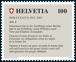 100 Jahre ZGB - Eine Sonderbriefmarke zum Geburtstag